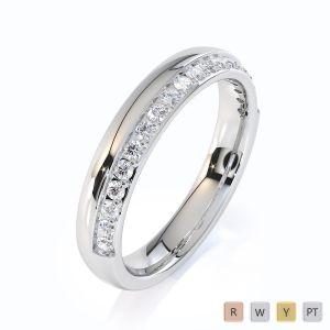Gold / Platinum Diamond Half Eternity Ring RZ1517
