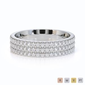 Gold / Platinum Diamond Half Eternity Ring RZ1519