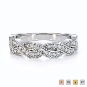Gold / Platinum Diamond Half Eternity Ring RZ1521