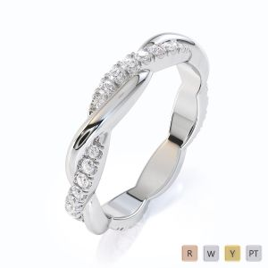 Gold / Platinum Diamond Full Eternity Ring RZ1522