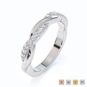 Gold / Platinum Diamond Half Eternity Ring RZ1523
