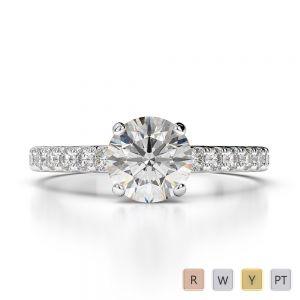 Gold / Platinum Diamond Engagement Ring AGDR-1201