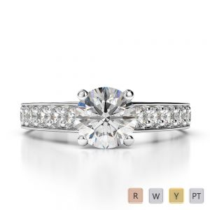 Gold / Platinum Diamond Engagement Ring AGDR-1202
