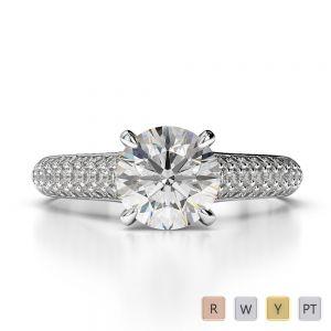 Gold / Platinum Diamond Engagement Ring AGDR-1203