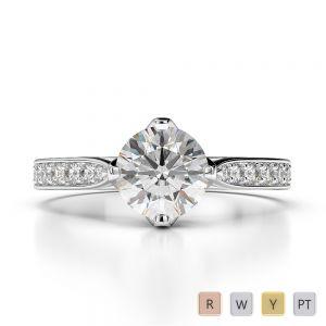 Gold / Platinum Diamond Engagement Ring AGDR-1204