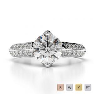 Gold / Platinum Diamond Engagement Ring AGDR-1205