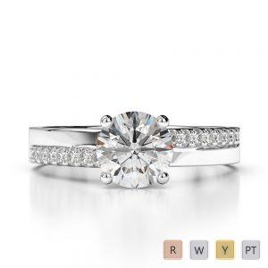 Gold / Platinum Diamond Engagement Ring AGDR-1206