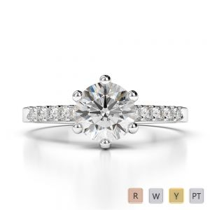 Gold / Platinum Diamond Engagement Ring AGDR-1208