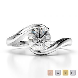Gold / Platinum Diamond Engagement Ring AGDR-1209