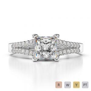 Gold / Platinum Diamond Engagement Ring AGDR-1211