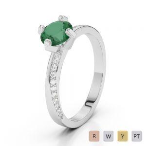 Gold / Platinum Diamond & Gemstone Engagement Ring AGDR-2002