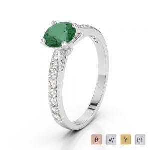 Gold / Platinum Diamond & Gemstone Engagement Ring AGDR-2032