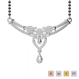 Gold / Platinum Diamond Mangalsutra Necklace DNC-1725