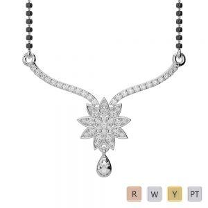 Gold / Platinum Diamond Mangalsutra Necklace DNC-1727