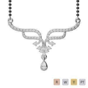Gold / Platinum Diamond Mangalsutra Necklace DNC-1731