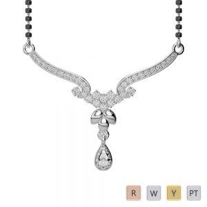 Gold / Platinum Diamond Mangalsutra Necklace DNC-1733