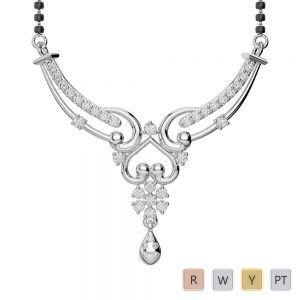 Gold / Platinum Diamond Mangalsutra Necklace DNC-2181
