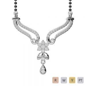 Gold / Platinum Diamond Mangalsutra Necklace DNC-2183