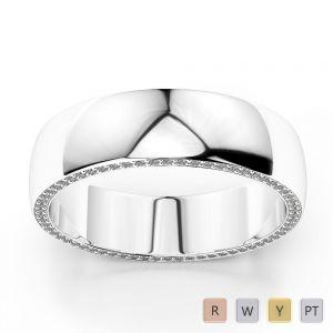 Gold / Platinum Diamond Mens Wedding Ring 5 mm AGDR-1270