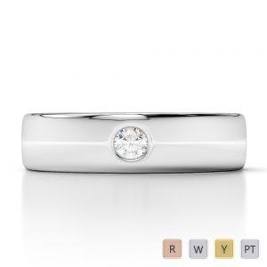 Gold / Platinum Diamond Mens Wedding Ring 5 mm AGDR-1274
