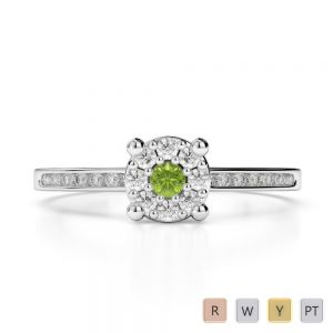 Gold / Platinum Diamond & Gemstone Engagement Ring AGDR-1163