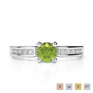 Gold / Platinum Diamond & Gemstone Engagement Ring AGDR-1184