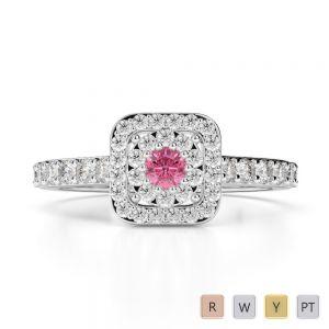 Gold / Platinum Diamond & Gemstone Engagement Ring AGDR-1189