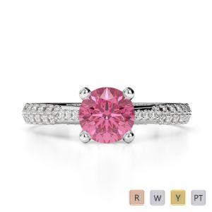 Gold / Platinum Diamond & Gemstone Engagement Ring AGDR-2014
