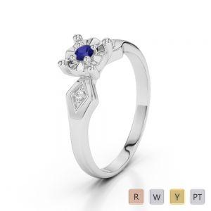 Gold / Platinum Diamond & Gemstone Engagement Ring AGDR-1169