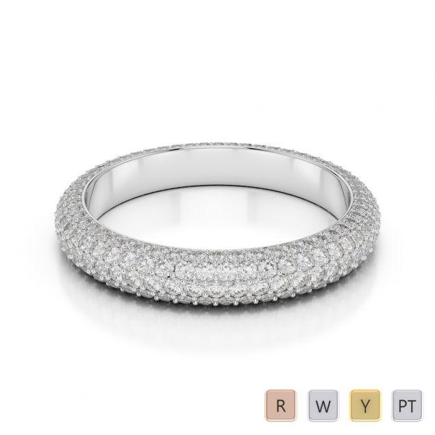 Gold / Platinum Diamond Full Eternity Ring AGDR-1116