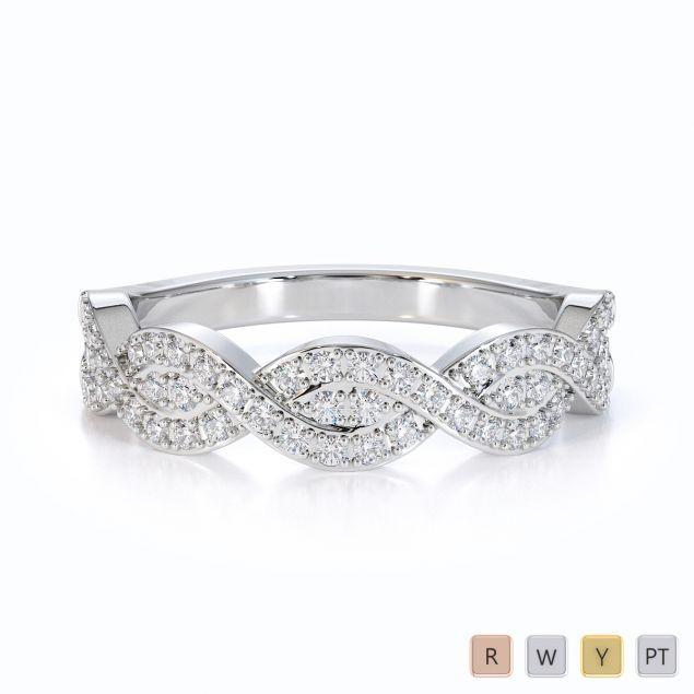 Gold / Platinum Diamond Half Eternity Ring RZ1499