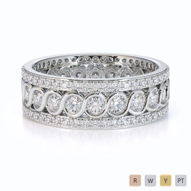 Gold / Platinum Diamond Full Eternity Ring RZ1524