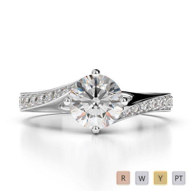 Gold / Platinum Diamond & Gemstone Engagement Ring AGDR-1207