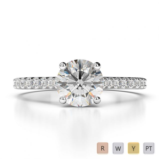 Gold / Platinum Diamond Engagement Ring AGDR-1213