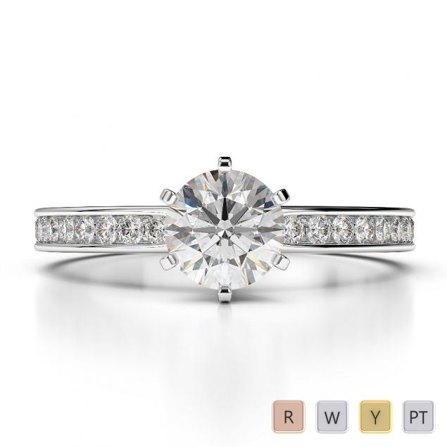 Gold / Platinum Diamond Engagement Ring AGDR-1214