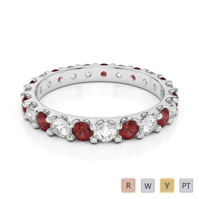 Gold / Platinum Diamond Full Eternity Ring AGDR-1105