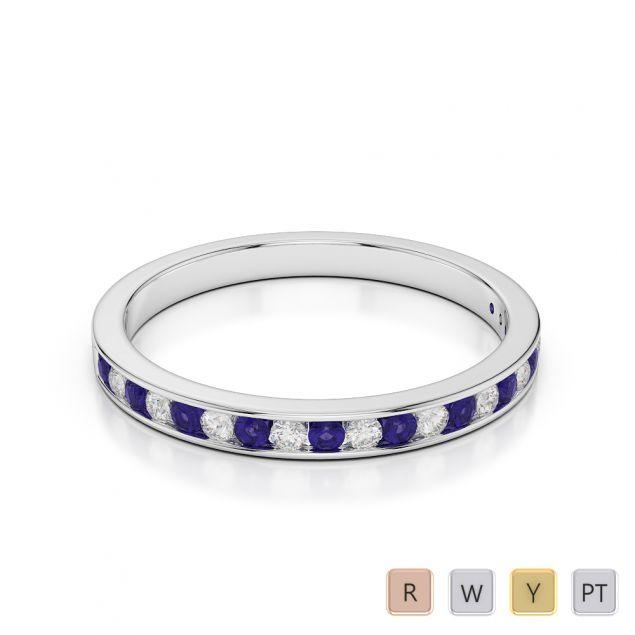 Gold / Platinum Diamond Half Eternity Ring AGDR-1089